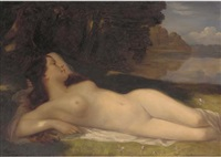 reclining nude by henri linguet