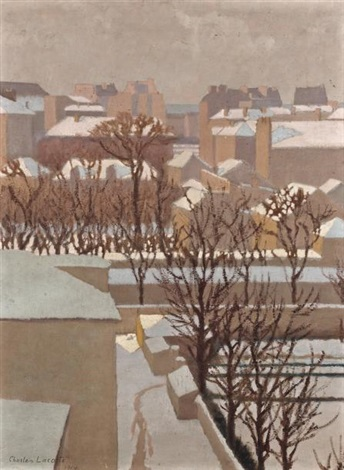 neige au soleil dans le jardin by charles lacoste
