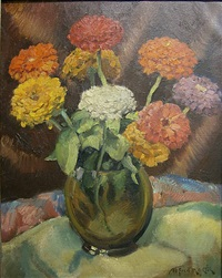 les zinnias by alfred martin