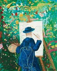 the artist in the garden by lennart jirlow