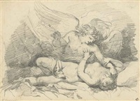 cupid and psyche by jean honoré fragonard