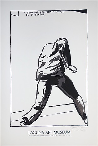 no title i thought california would be different by raymond pettibon