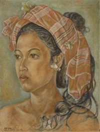 portrait of the artist's daughter by anak agung gede sobrat