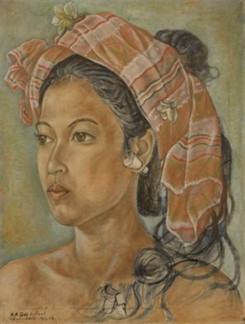 portrait of the artists daughter by anak agung gede sobrat