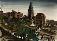 view of city hall, downtown los angeles by noël joseph quinn