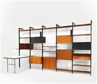 five bay comprehensive shelving system (css) by george nelson & associates