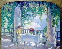 Sur la terrasse, 1923–1923