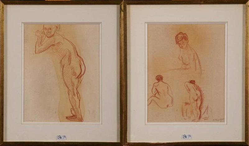 études de nus 2 studies by henri charles manguin