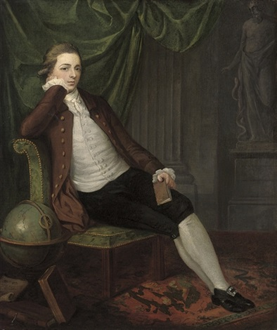 portrait of a gentleman seated in a brown coat by john hamilton mortimer