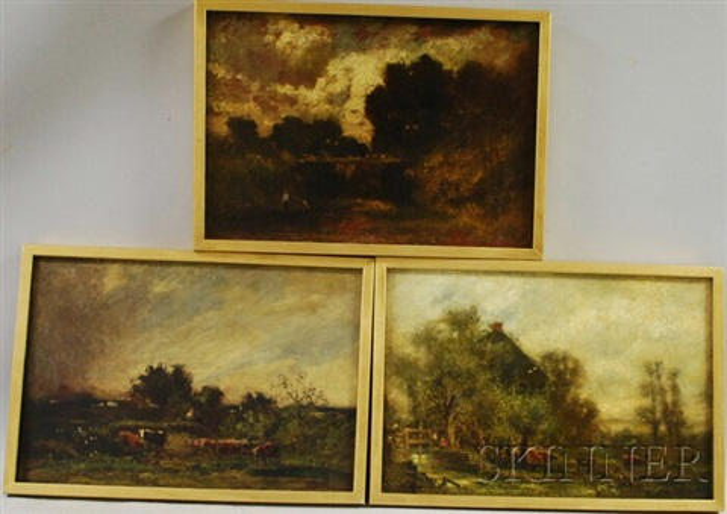 pastoral landscapes 3 works by charles henry miller