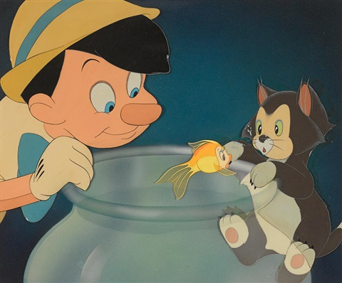 A celluloid of pinocchio figaro and cleo from pinocchio - Poisson pinocchio ...
