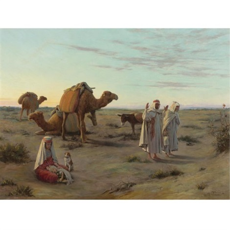 Praying in the desert by Jacques Alsina on artnet
