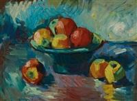 stillleben mit äpfeln by leon abramowicz