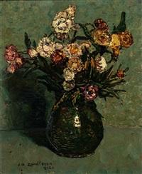 milk jug with flowers by jan adam zandleven