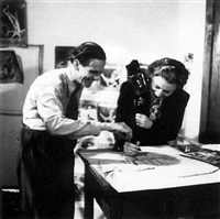 war artist graham sutherland with lee miller, london, 1943 by dr. william macquitty