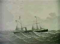 the steam ship cumbrae by j. stewart