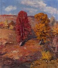 autumn landscape by joseph bokshai
