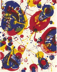 an 8 set - 2 (from pasadena box) by sam francis