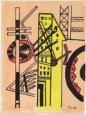 untitled for arthur rimbaud illuminations by fernand léger