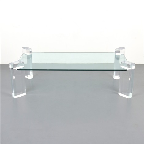 Large Karl Springer Coffee Table By Karl Springer
