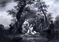 the hunting party by jean baptiste van eycken