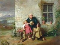 grandfather describing the battle of blenheim to his grandchildren by john faed
