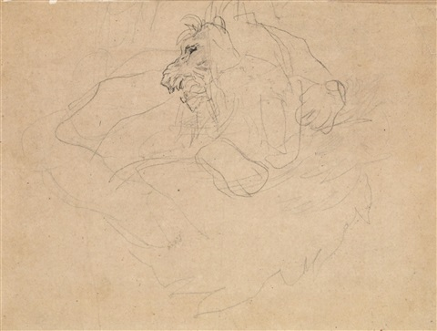 studie eines löwen study by théodore géricault
