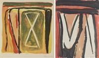 sans titre (set of 2) by bram van velde