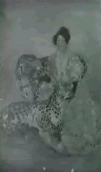 lady with leopards by sarah s. stilwell weber