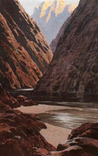 at the river, grand canyon, az by fernand harvey lungren