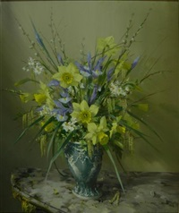 yellow still life by vernon ward
