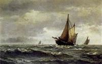 marine med fiskekutter by edvard skari