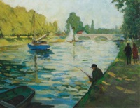 fishermen on the seine by george kennerley