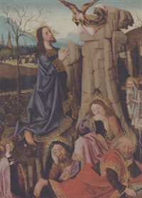 the agony in the garden, with saints catherine of alexandria and onophrius by french school-northern (15)
