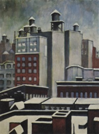 new york rooftops by mabel scott