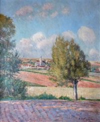 village de campagne by victor alfred paul vignon