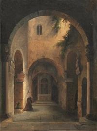 frate in preghiera by vincenzo abbati