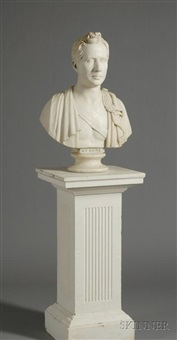 bust of u.s. senator arthur perroneau hayne of charleston, south carolina by edward v. valentine