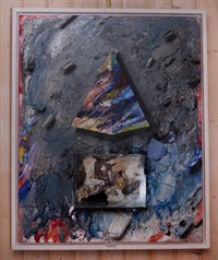 pyramid och abstrakt komposition by jorgen waring