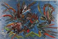 combat de coqs by joseph sainte-croix rené-corail
