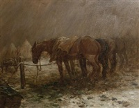 horses resting on the western front by george denholm armour