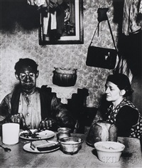 northumbrian coal miner eating his evening meal by bill brandt