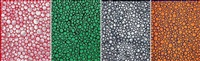 dots accumulation; season of the green; dots accumulation; & the evening glow (4 works) by yayoi kusama