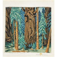 sequoia forest by gustave baumann