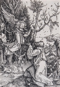 the angel appearing to joachim by albrecht dürer