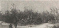 winter encampment by carl theodor staaf