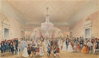 a fancy dress ball at the british residence at pera (+ children's fancy dress ball; pair) by caspard fossati
