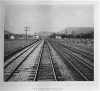 main line near losh's run, pennsylvania railroad by william h. rau