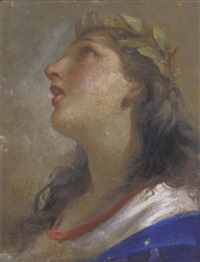 head of a muse by giovanni mannozzi