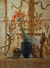 nature morte avec crâne by jurg kreienbuhl